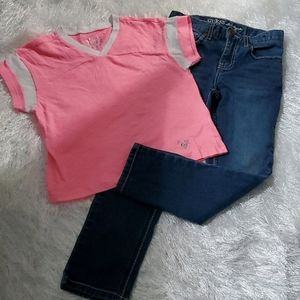 Guess Jeans & Justice Top - $20